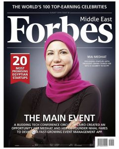 Mai of Eventtus featured on the cover of Forbes ME