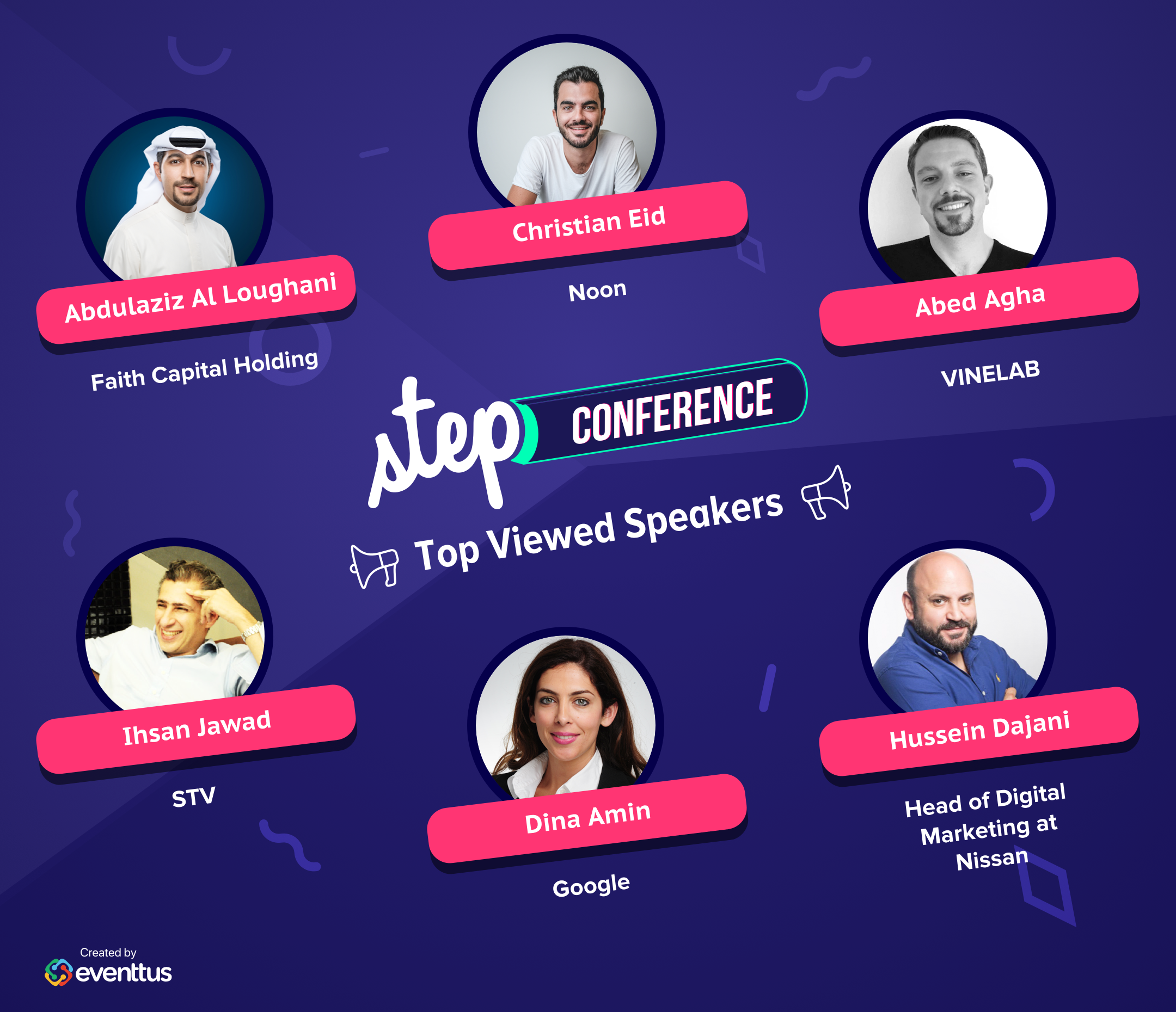 Step 2018 top speakers