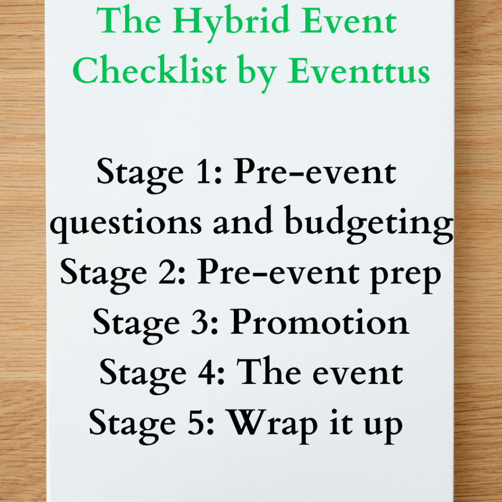 Your hybrid event checklist by EventtusYour hybrid event checklist by Eventtus